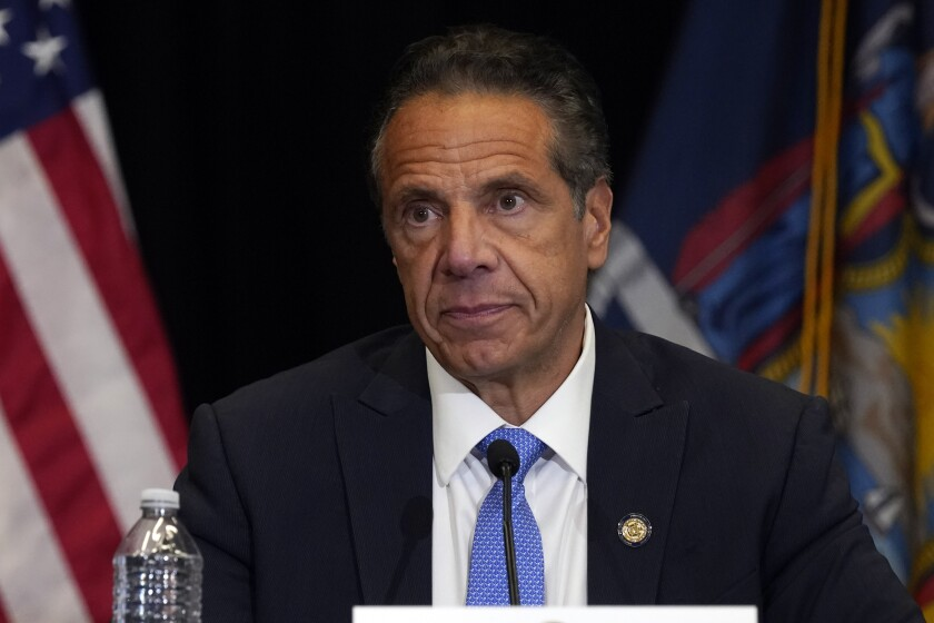 New York Gov. Andrew Cuomo speaks during a news conference