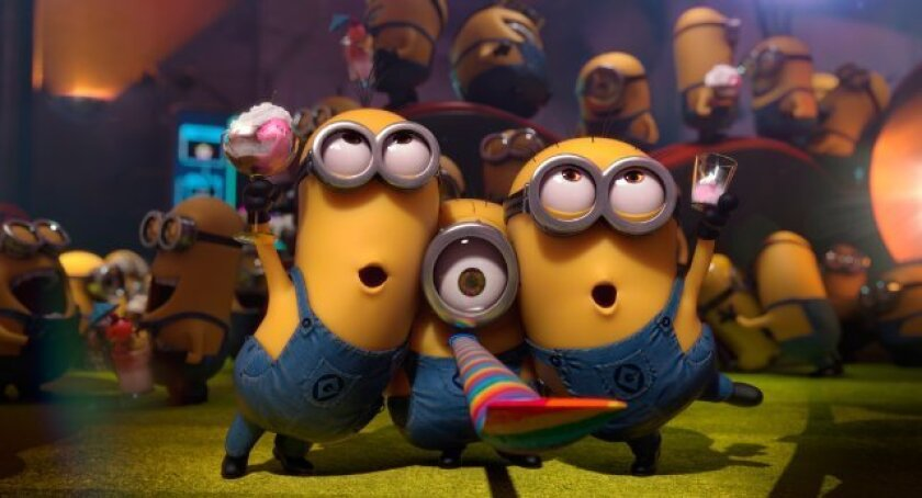 """The Minions in """"Despicable Me 2."""" The quirky miniature yellow characters' new movie will now come out in 2015 rather than next year."""