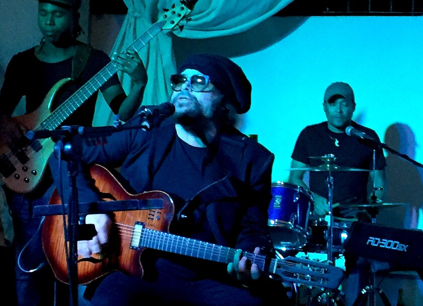 "Cuban singer-songwriter Carlos Varela, one of his country's ""nueva trova"" troubadours, performing recently at Paladar Opera restaurant in Havana. Jackson Browne, Bonnie Raitt and Dave Matthews are among high-profile fans in the English-language pop and rock music community."