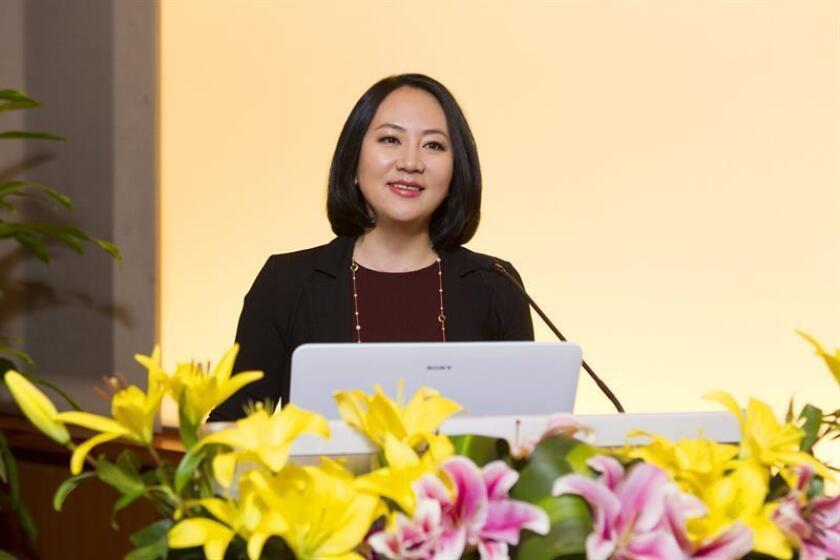 Fotografía facilitada por la firma tecnológica china Huawei, el segundo fabricante mundial de equipos de telecomunicaciones, de su presidenta financiera de Huawei, Meng Wanzhou. EFE/Archivo