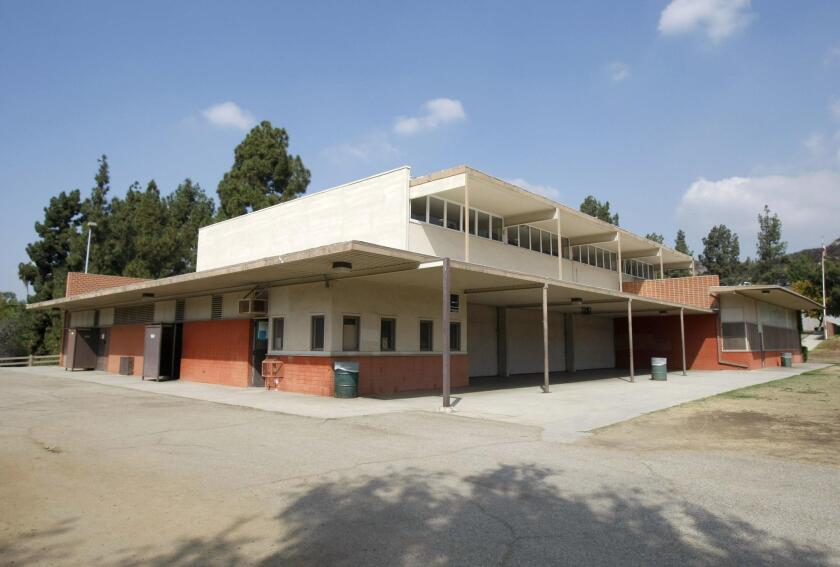 The Eagle Rock Recreation Center, originally known as the Eagle Rock Playground Clubhouse, was built in 1953. The building was designed by architect Richard Neutra.