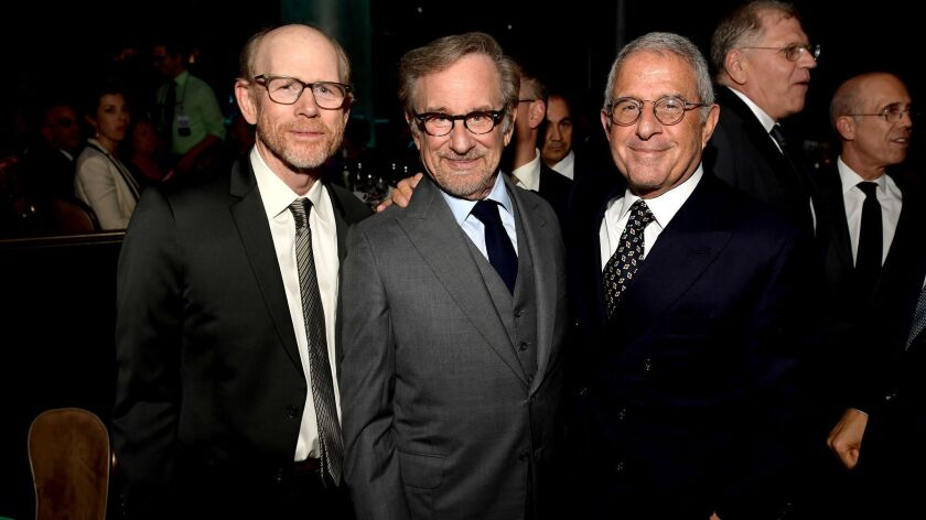 Ron Howard, Steven Spielberg and Ron Meyer at Ambassadors for Humanity Gala