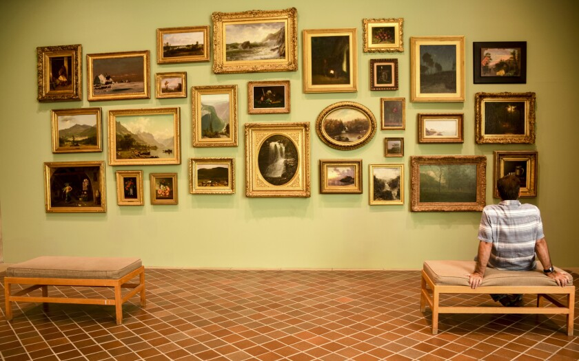 A gallery at the Johnson Museum of Art at Cornell University in Ithaca, N.Y.