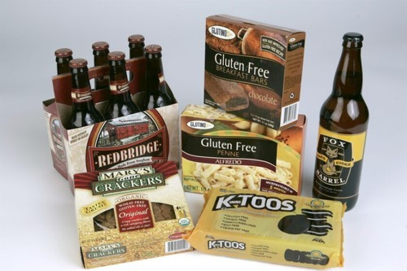 CHOICES: Beer, crackers, penne — it's the gluten-free menu.