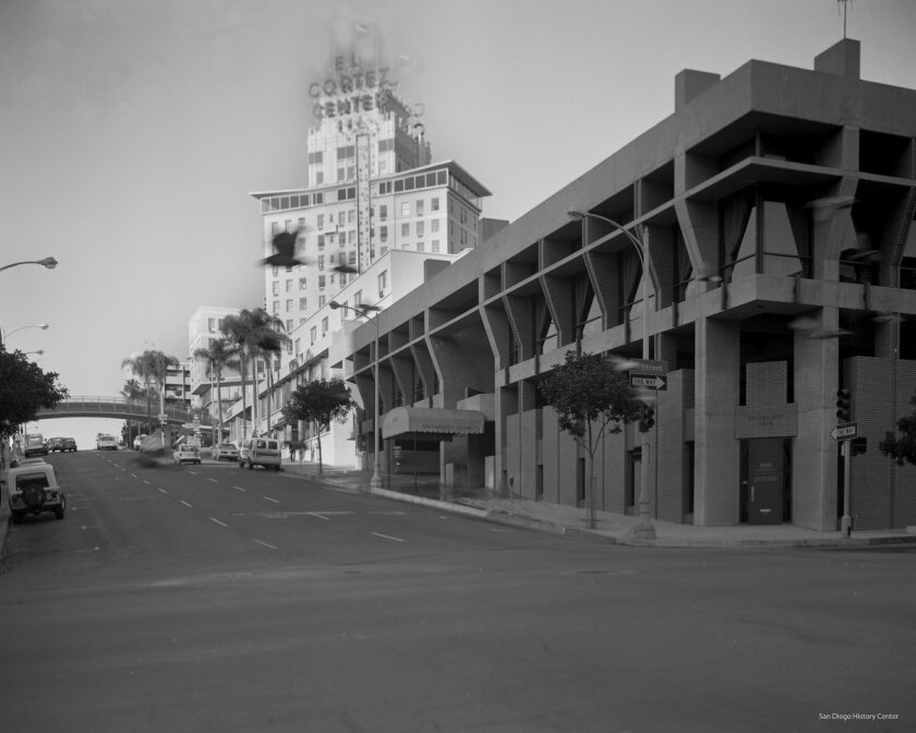 The third clubhouse was also developed at Seventh Avenue and A Street (opening in 1970). It was later sold to the San Diego County Bar Association and is currently vacant.  San Diego History Center Photos