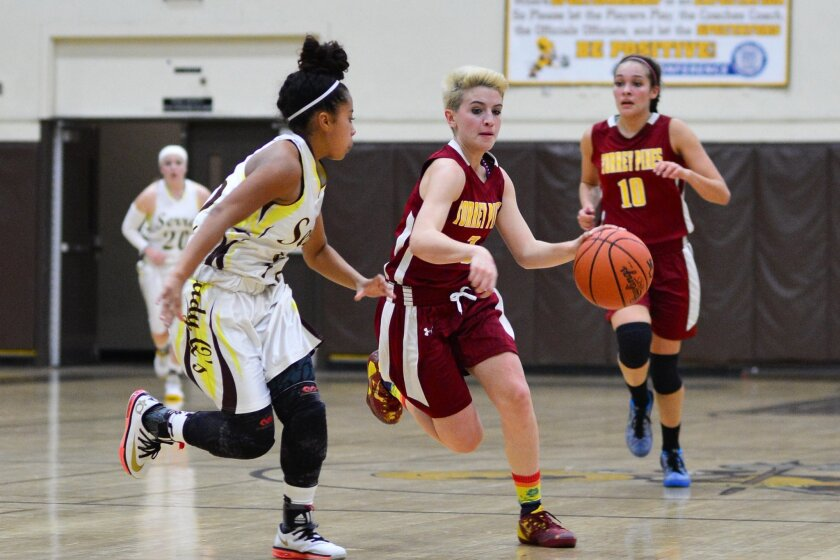 Madison Lombard (3) added 10 points and 8 assists. Photo courtesy of Anna Scipione