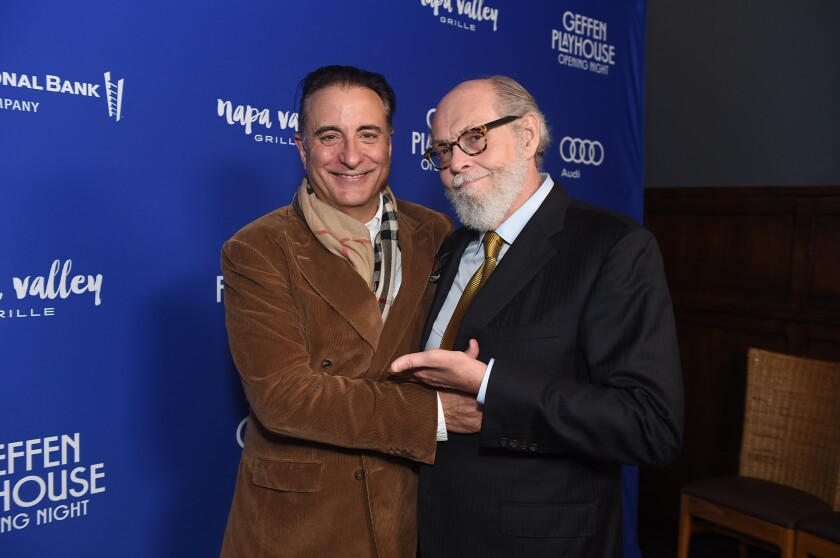 """Andy Garcia, left, and Jeffrey Hatcher during the opening night of their adapted play, """"Key Largo."""""""