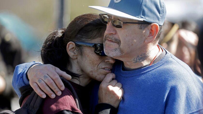 ANAHEIM, CALIF. -- TUESDAY, FEBRUARY 20, 2018: Veronica Ruiz, left, of Garden Grove, and boyfriend R