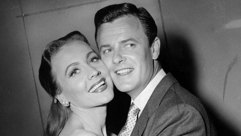 The film and television actor and his wife, Anne Jeffreys, shown in 1953, starred as fun-loving ghosts George and Marion Kerby.