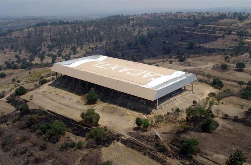 Aspecto de la zona arqueológica de Cacaxtla EFE/INAH/SOLO USO EDITORIAL