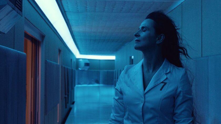 """Juliette Binoche in a scene from """"High Life."""" Credit: Martin Valentin Menke/A24"""