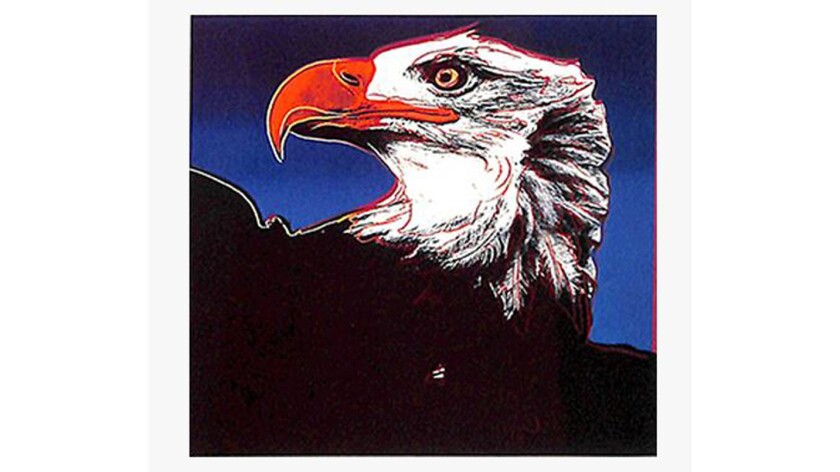 """""""Bald Eagle"""" from Andy Warhol's Endangered Species series."""