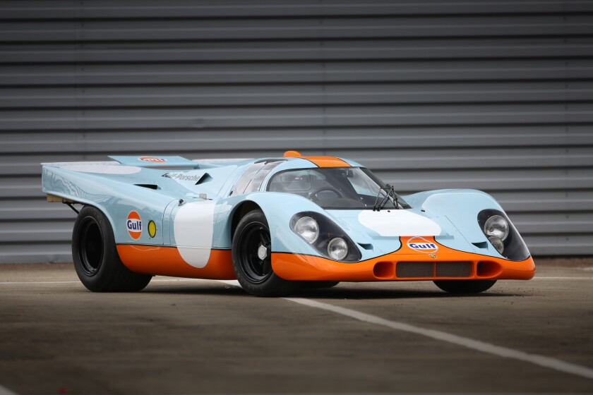 """This 1969 Porsche 917K was used in the 1971 Steve McQueen film """"LeMans,"""" and is one of only 25 such cars built. It could sell for around $20 million at Gooding & Co.'s Pebble Beach auction in August."""
