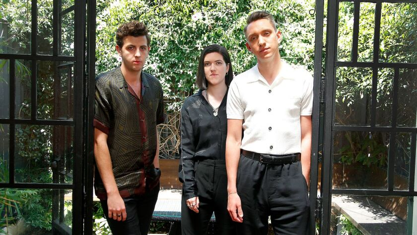The xx's Jamie Smith, from left, Romy Madley Croft and Oliver Sim in Los Angeles.