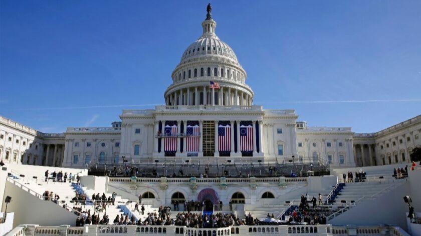 U.S. Capitol rehearsal Donald Trump swearing-in ceremony