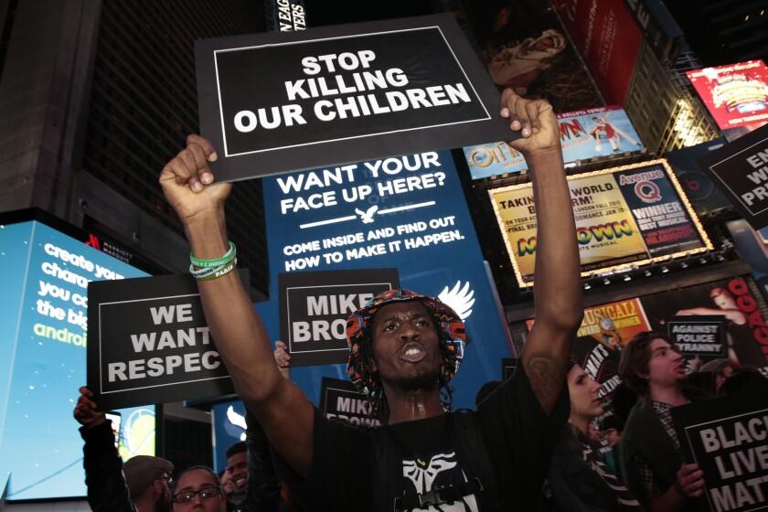 Ferguson: Protest in New York