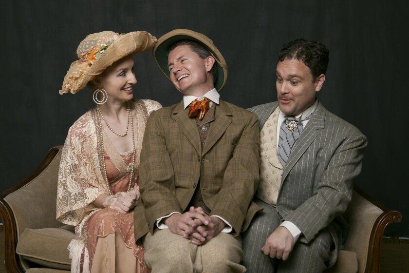 """From left: Allison Minick, David McBean and Kern McFadden in """"Now You See It"""" at the North Coast Rep. Aaron Rumley photo"""