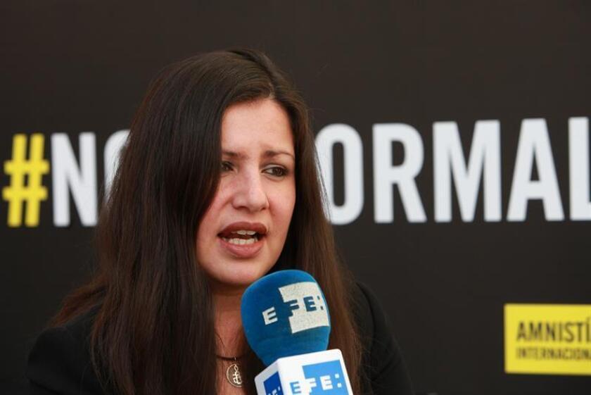 La directora para América de Amnistía Internacional, Erika Guevara, durante una entrevista con Efe, en Ciudad de México. EFE/Archivo