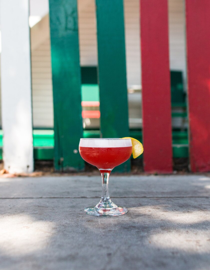 The Little Italy cocktail was created by Carlo Bracci Devoti for George's Level2 in La Jolla.