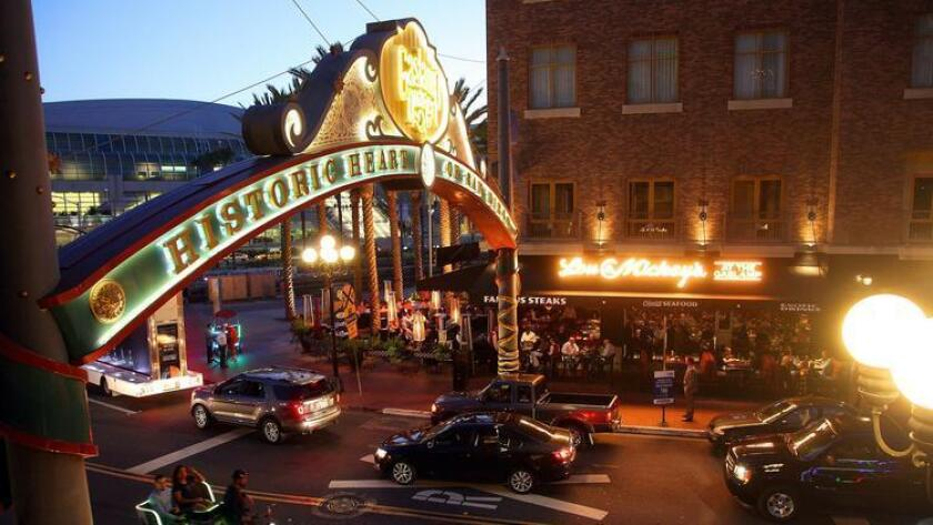 San Diego's Gaslamp Quarter, which has been under development for the last three decades is a must-see tourism location. (John Gastaldo)