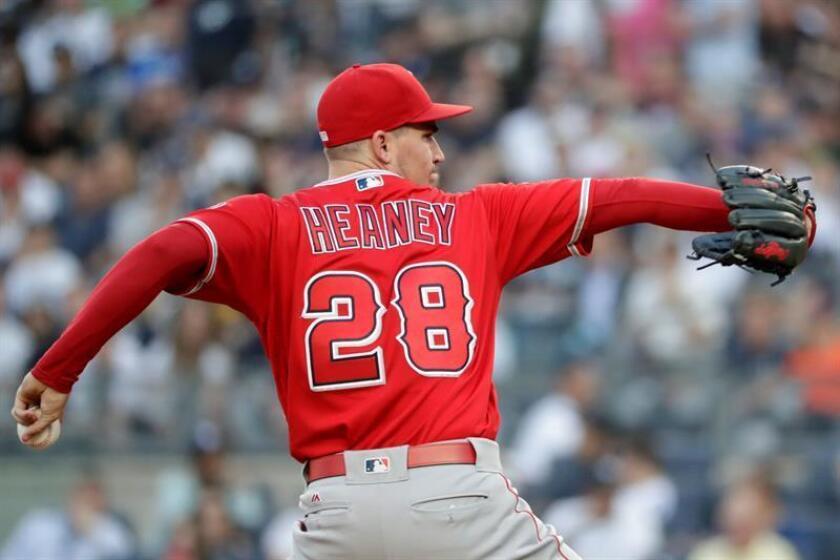 El pitcher Andrew Heaney en un partido contra los New York Yankees. EFE/Archivo