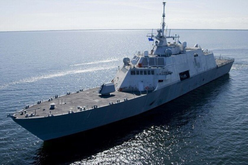 The littoral combat ship Freedom, which is stationed in San Diego, can travel more than 40 knots.