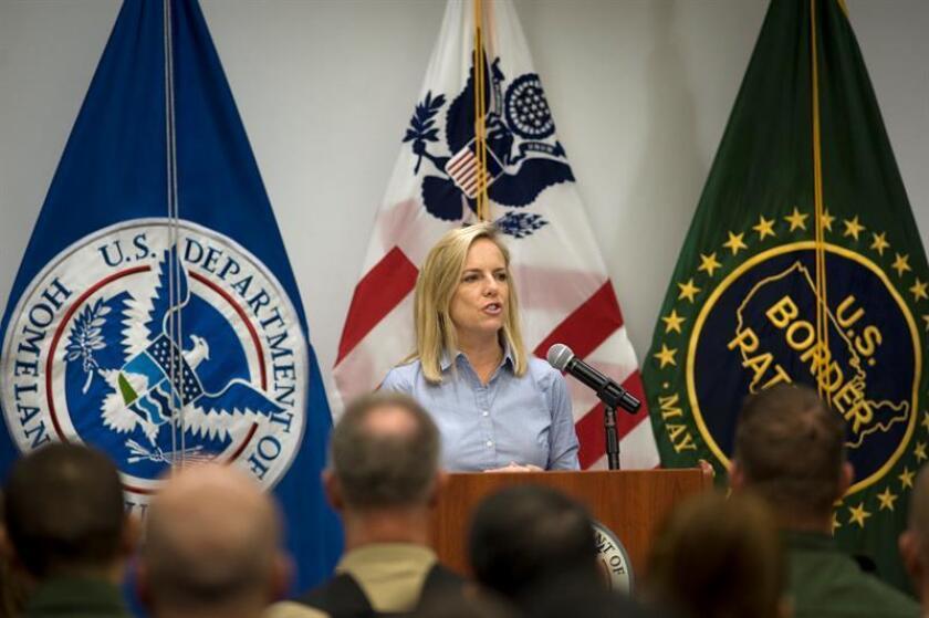 La secretaria del Departamento de Seguridad Nacional (DHS) de los Estados Unidos, Kirstjen M. Nielsen. EFE/Archivo