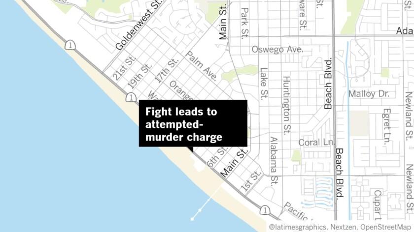 Fight in Huntington Beach