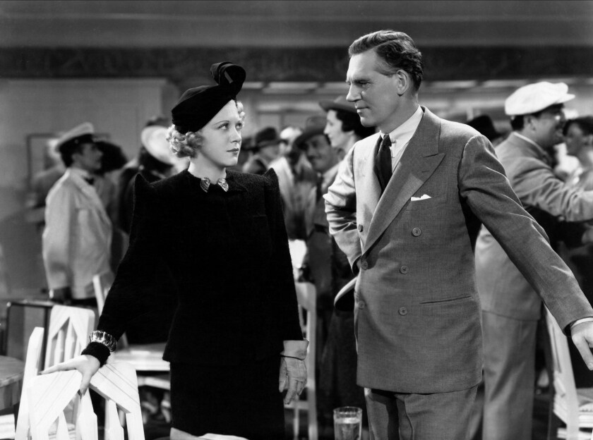 """Ruth Chatterton and Walter Huston in a scene from the movie """"Dodsworth,""""  1936."""