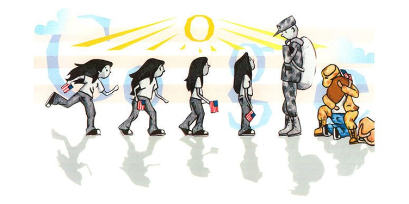 """""""Coming Home"""" by Sabrina Brady is the Doodle 4 Google winner."""