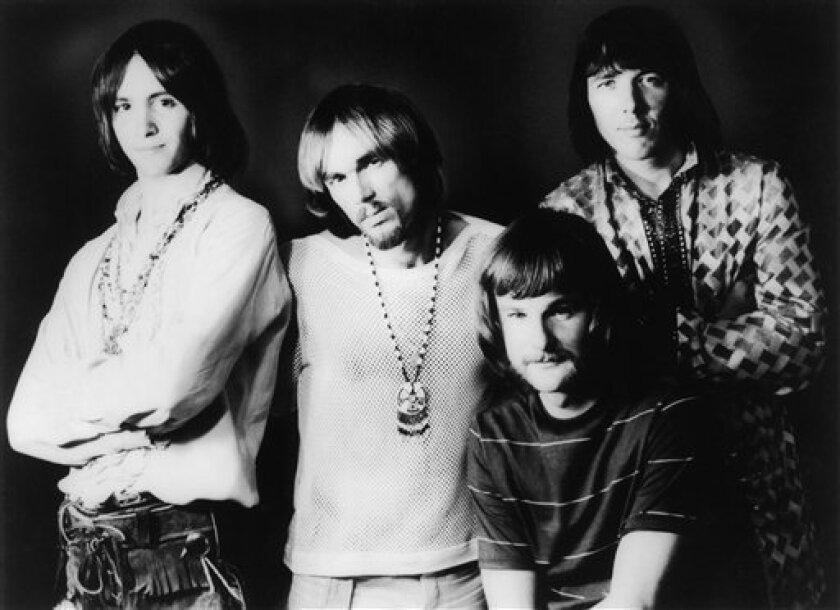 This April 9, 1969 photo shows members of Iron Butterfly, from left, Erik Brann, Ron Bushy, Lee Dorman, and Doug Ingle. (Copyright Bettmann/Corbis/AP Images)