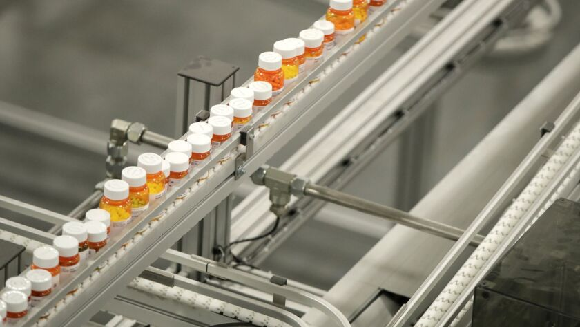 Prescription medications at a New Jersey warehouse.