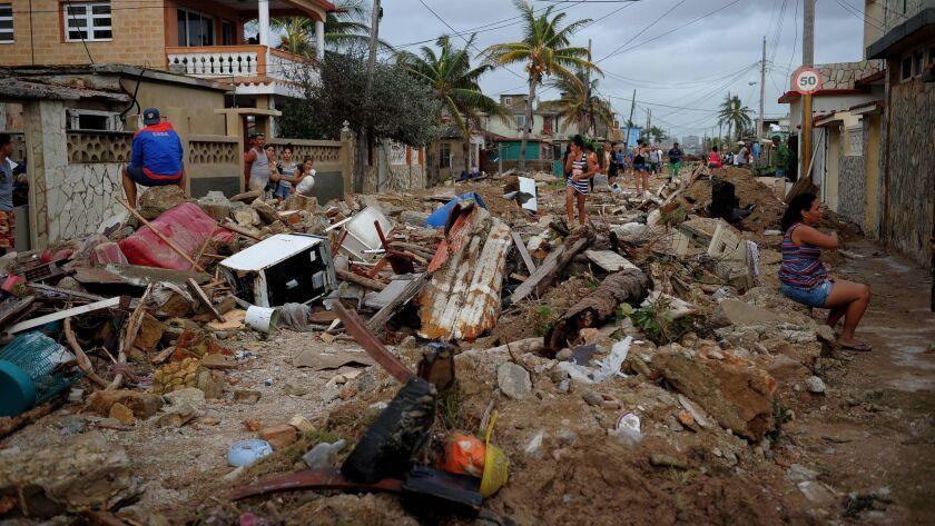 Damage in Havana after Hurricane Irma.