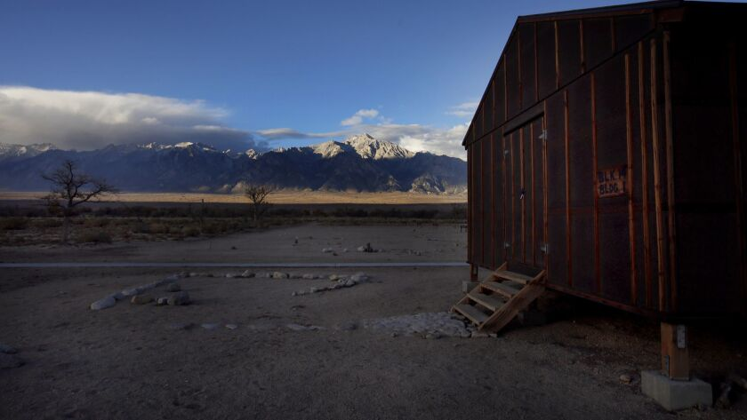 INDEPENDENT, CA - NOVEMBER 20, 2016: Block 14 building 1 at the Manzanar War Relocation Center at M