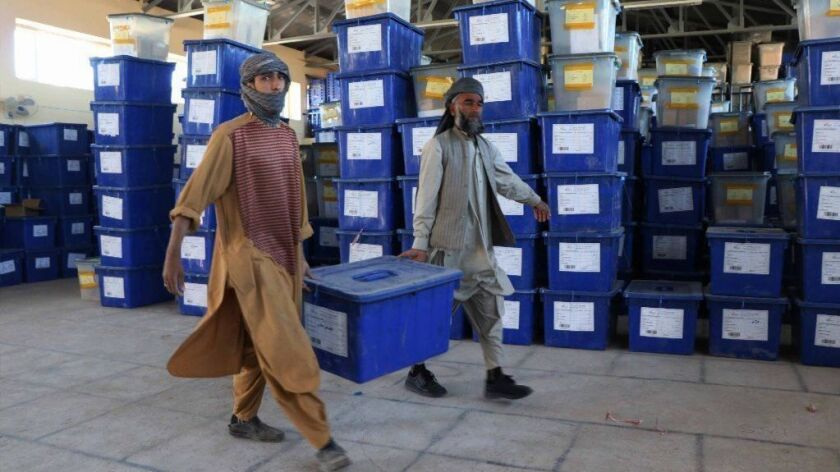 Parliamentary elections preparations, Herat, Afghanistan - 17 Oct 2018