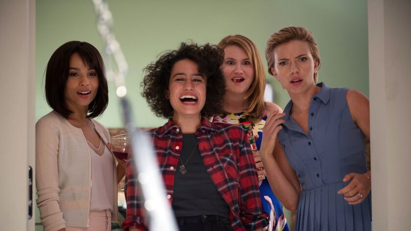 "The ladies discover a sex swing in ""Rough Night."""