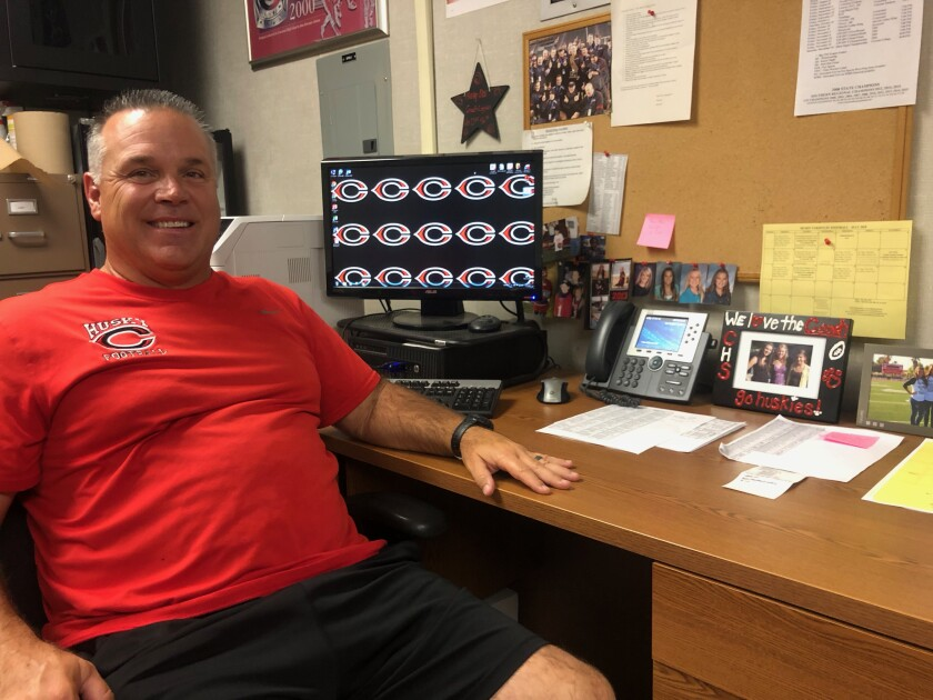 Corona Centennial coach Matt Logan has won 10 section titles with the Huskies.