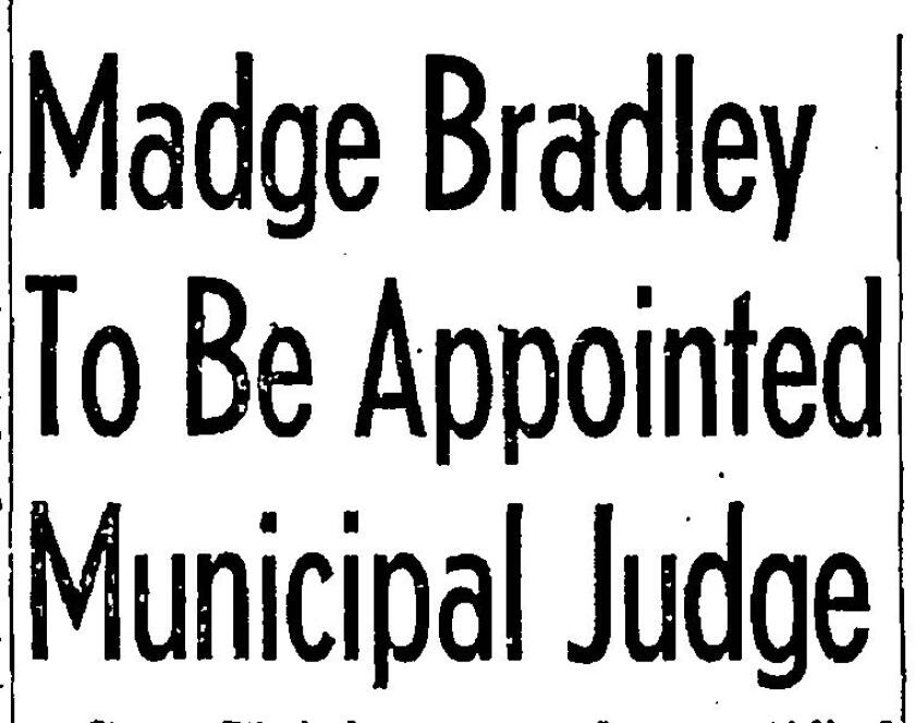 Bradley headline from the front page of The San Diego Union
