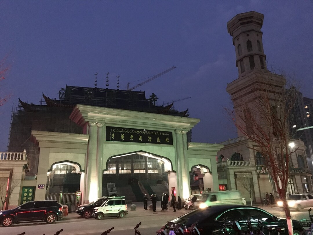 The Laohua mosque in Linxia, Gansu province, on Nov. 13, 2020.