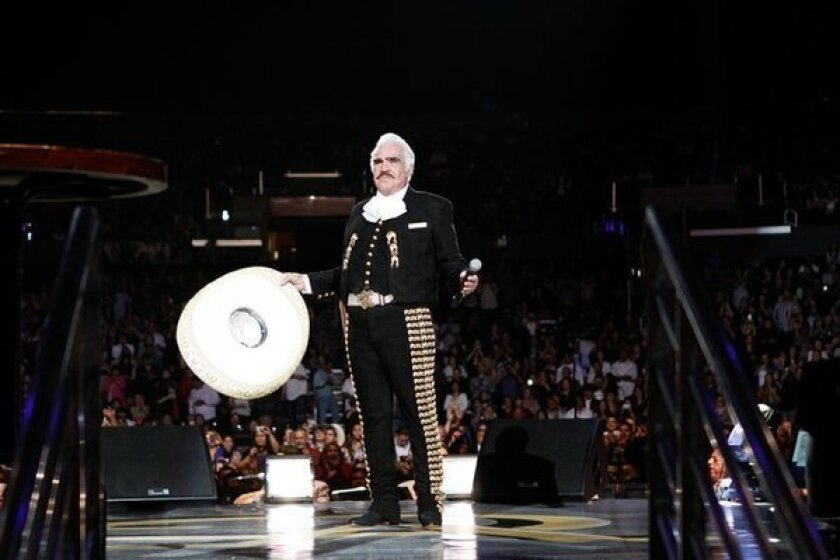 Vicente Fernandez at Staples Center in March.