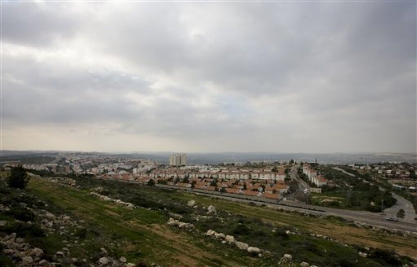 In this photo taken Tuesday, Feb. 2, 2010, shown is a general view of the West Bank Jewish settlement of Ariel. Ariel has ambitions of becoming a city, and is beginning to look like one, with its 19,000 people, its college and $10 million sports complex, and the four-lane highway leading to it. But