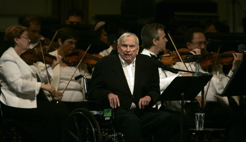 "Gore Vidal at a performance of ""Lincoln Portrait"" at the Hollywood Bowl in 2007."