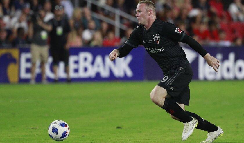 Wayne Rooney, delantero del DC United de la MLS.
