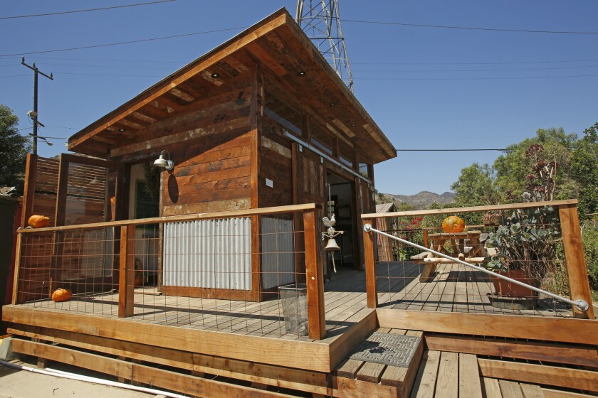 The new cooking structure at the equestrian center in Atwater Village is basically a tiny house on wheels. Jody Rather designed it like a trailer thatcan be moved at will.