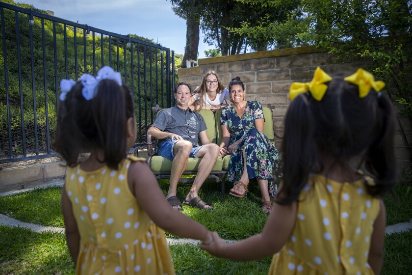 Natalia and Randall Bergman have been foster parents of twins since the girls were 3 months.
