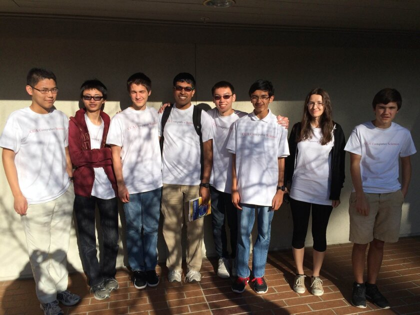 Canyon Crest Academy finalists in the Mayor's Cup, who participated in Cyber Boot Camp this summer included rising seniors Simon Kuang and Kevin Wu, Grant Summers (UCSD freshman), Keshav Tadimeti (UCLA freshman), Jonathan Luck (UCSD freshman), sophomore Rithvik Rao, junior Emilia Copic and sophomore Nathan Thomsen. Courtesy photo