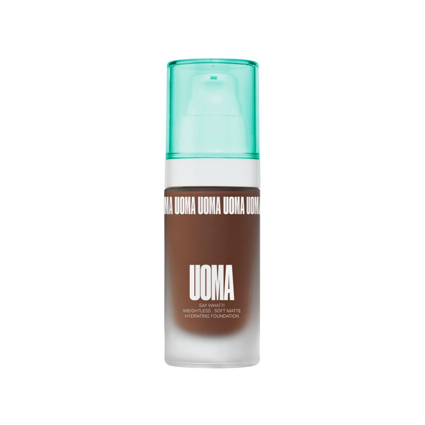 The Uoma Beauty Say What?! Foundation is available in 6 custom formulas across 51 shades.