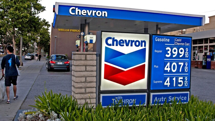 Higher gas prices in the L.A. area