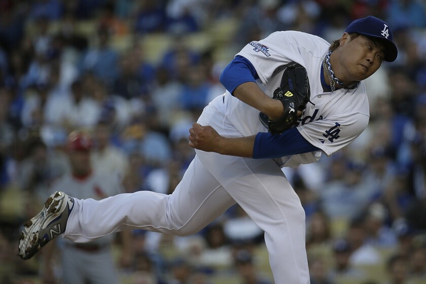 The Dodgers put pitcher Hyun-Jin Ryu on the 15-day disabled list on Friday because of left shoulder inflammation.
