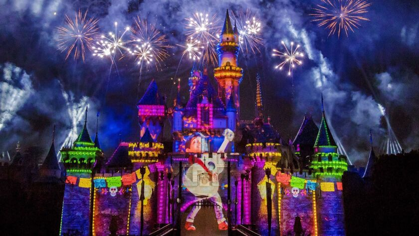 """The new Pixar-themed """"Together Forever"""" fireworks spectacular plays through the summer at Disneyland Park."""